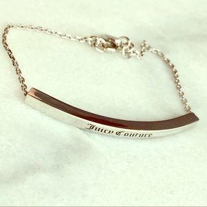 Juicy Couture Silver Bar Bracelet